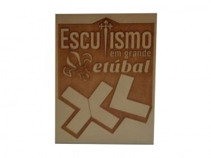 """Placa """"Escutismo em grande - Setúbal -XL"""""""