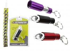 Porta-chaves LED com abre garrafas