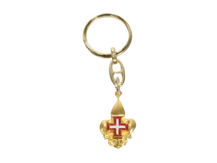 Porta Chaves com Flor de Lis Dourada