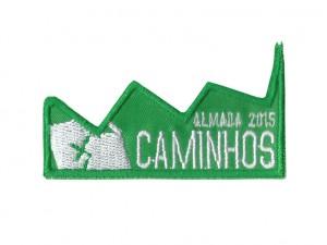 """Distintivo """"Caminhos 2015"""""""